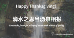Giving Thanks in the Chinese Culture